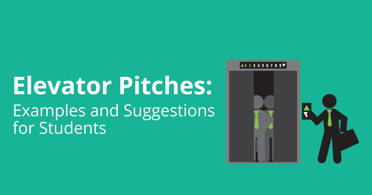Elevator Pitches Examples And Suggestions For Students  Titan Web